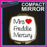 LOVE FREDDIE MERCURY MRS COMPACT LADIES METAL HANDBAG GIFT MIRROR